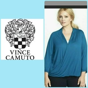 TWO BY VINCE CAMUTO FAUX WRAP BLOUSE